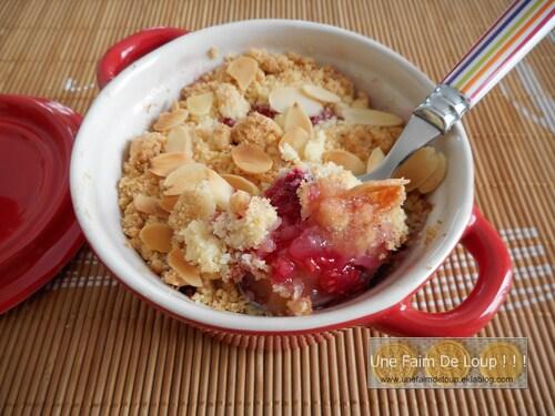 Crumble pomme framboise sans sucre !