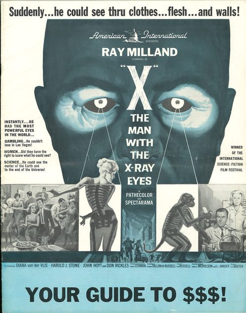 THE MAN WITH THE X RAY EYES BOX OFFICE USA 1963