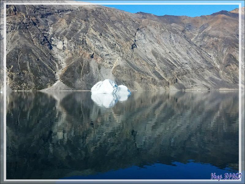 Navigation vers Illuliisat : miroirs - Chenal Inukavsait - Groenland