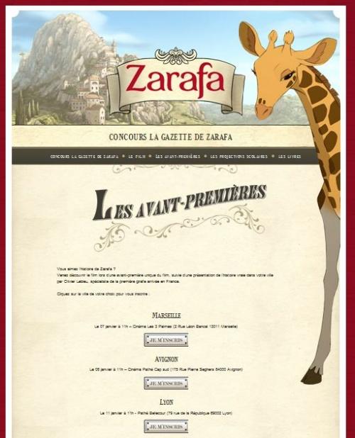 Avant-première Zarafa