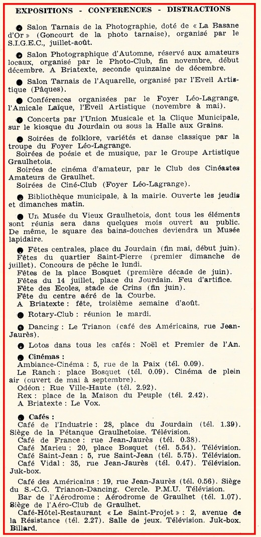 - Brochure 1962 du Syndicat d'Initiative
