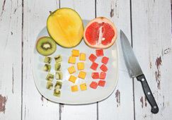 Rubik's cube de fruits étape 1