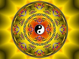 Tibetan Yin Yang Mandala