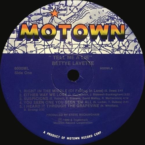"Bettye Lavette : Album "" Tell Me A Lie "" Motown Records 6000ML [ US ]"