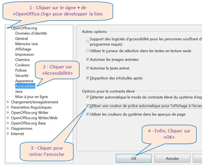 OPEN OFFICE WRITER 3.0.1 - RECUPERER LES COULEURS DE CARACTERES A L'ECRAN