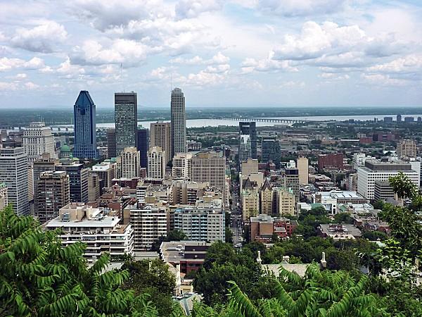 Montréal Mont-Royal vue sur centre b