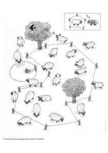 Colorie les moutons qui sont sortis de l