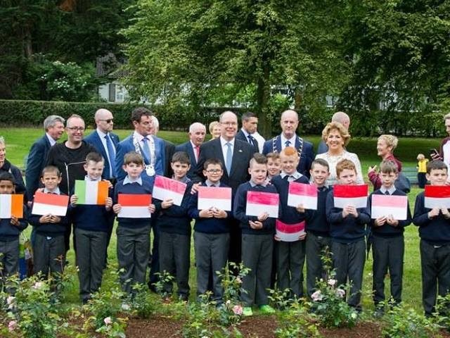 "Inauguration de ""The Princess Grace Rose Garden"" à Saint Dominic's Park"