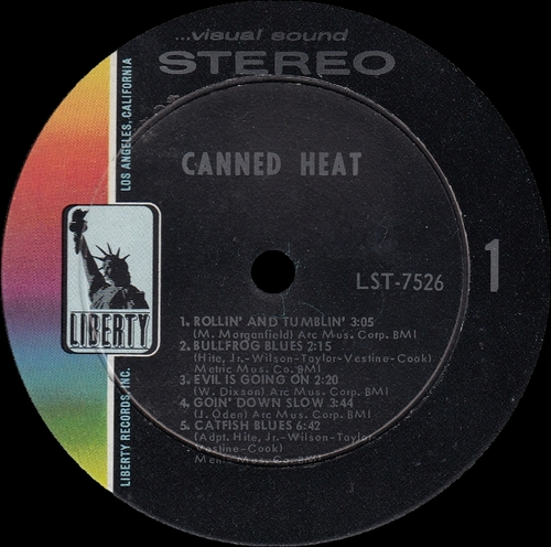 "Canned Heat : Album "" Canned Heat "" Liberty Records LST-7526 [ US ]"