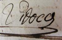 Signature manuscrite de Vidocq. (Agrandir l'image).