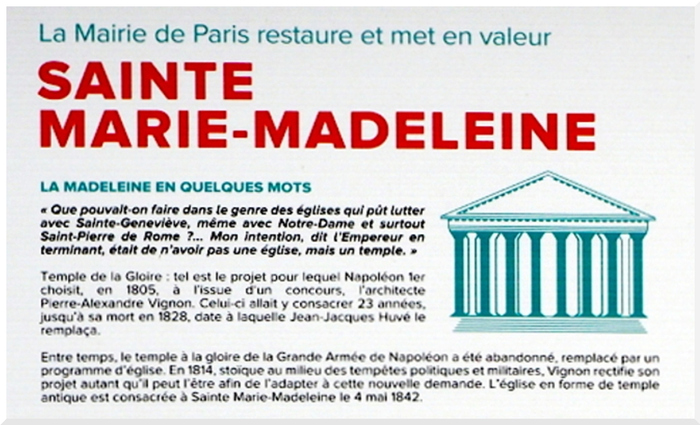 Eglise. La Madeleine Paris.1/2
