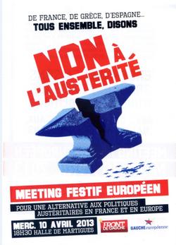 Meeting du 10 avril à MARTIGUES : NON à l'AUSTERITE