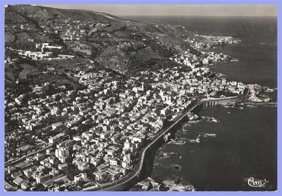 Vue aérienne panoramique de la Corniche Saint-Eugène et Pointe-Pescade