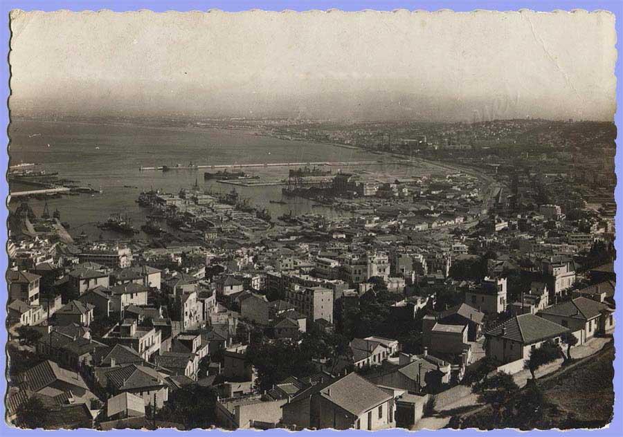 carte postale : Le Port de l'Agha et la Baie d'Alger.