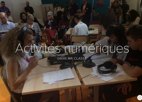 Activités numériques dans ma classe