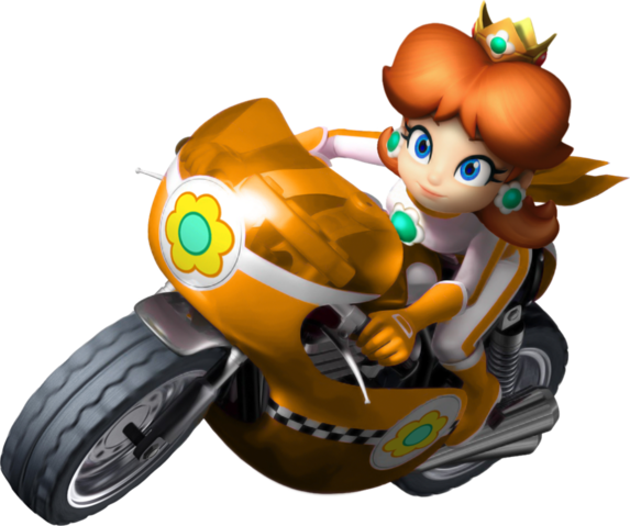 Fichier:Mario kart wii daisy bike by tonytoad22-d3dizdr.png
