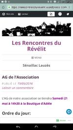 Association du révélit, assemblée générale