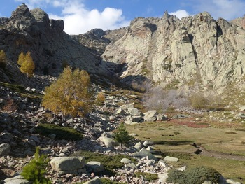 La vallée de l'ancien glacier