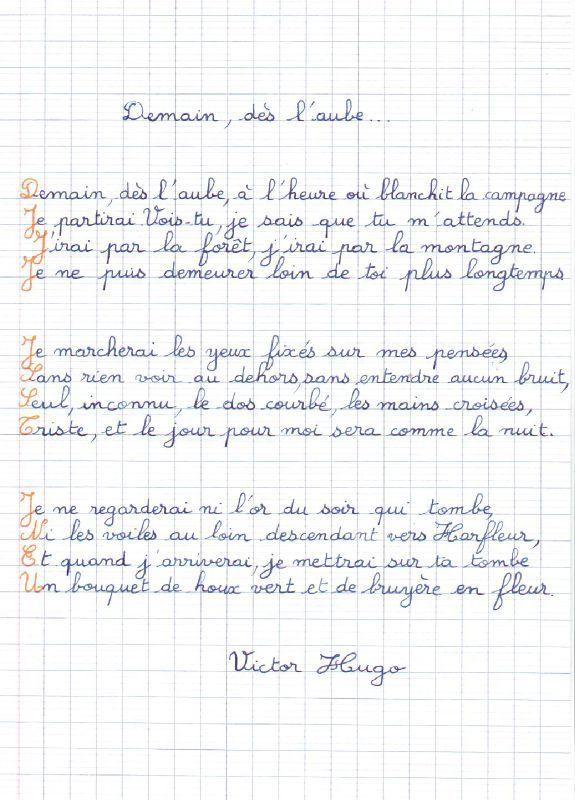 Demain Dès Laube De Victor Hugo Histoire Des Arts