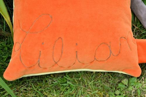 Un coussin pour Lili