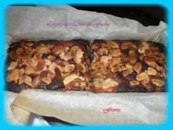 Cake poire, chocolat et amandes