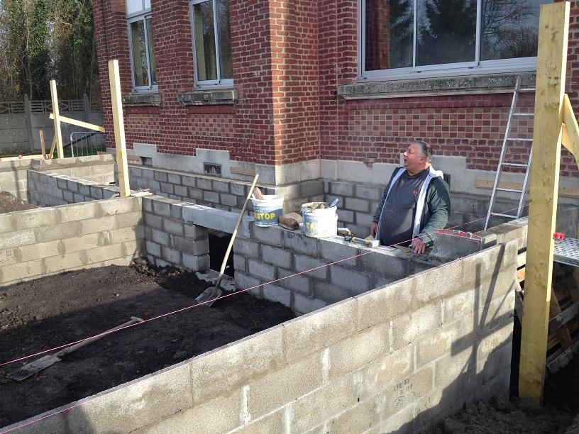D marrage des travaux l 39 cole langevin les services for 4 murs bruay