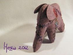 Eléphant violette front