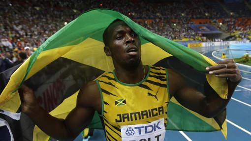 Video final 4 x 400 AVEC Usain Bolt au Championnats du Monde de Moscou 2013