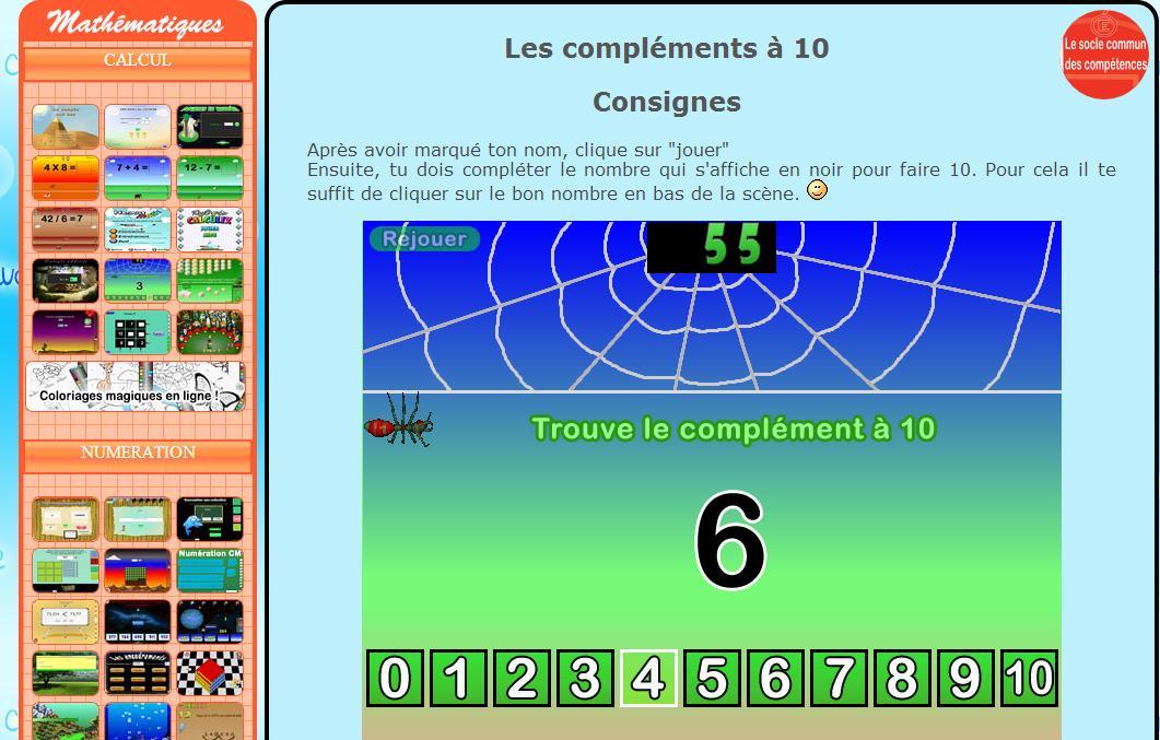 Les compl ments 10 20 50 100 500 1000 l 39 cole de crevette - Logiciel educatif tables de multiplication ...