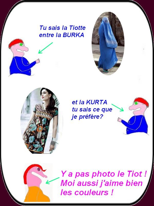 Burka, kurta, voiles sur la plage, c'est l'humour du dimanche!