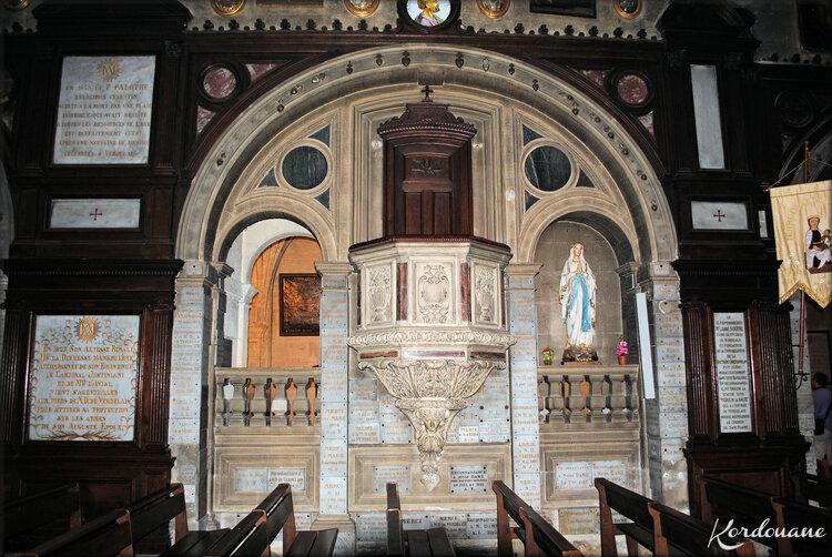 Photo de la chaire de Notre Dame de Verdelais