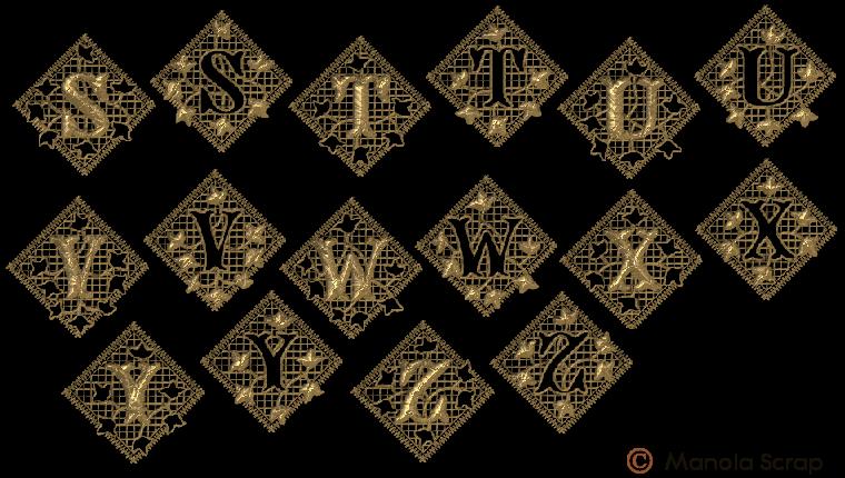 Alphabets de dentelles