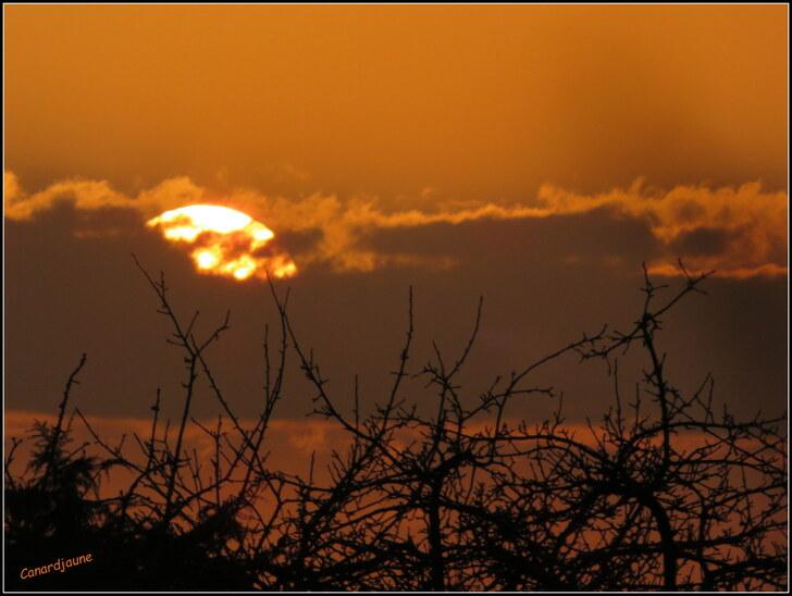 Soleil-Lune un dernier jour de février parfait