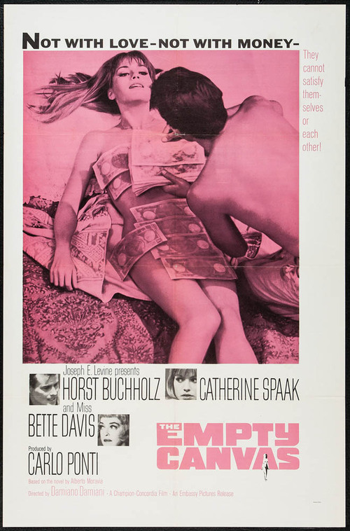 THE EMPTY CANVAS BOX OFFICE USA 1964