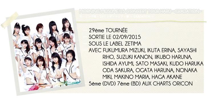 MORNING MUSUME.'15 CONCERT TOUR HARU ~GRADATION~