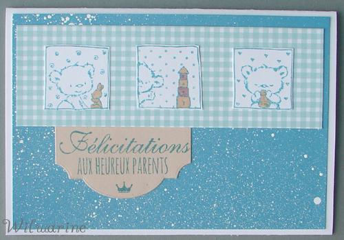 carte naissance bleue nounours
