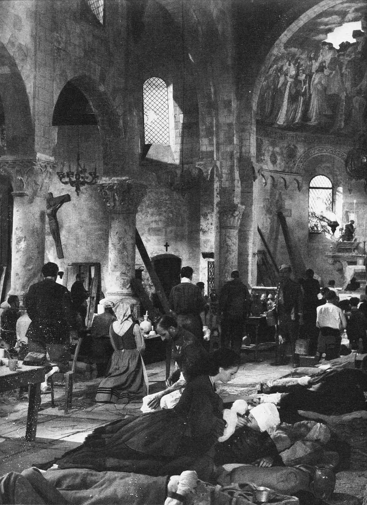 Dans l'église de Castiglione après la bataille de Solférino en 1858