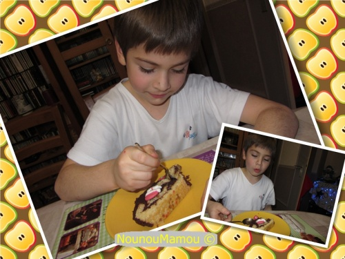 Bûche marron chocolat par Baptiste