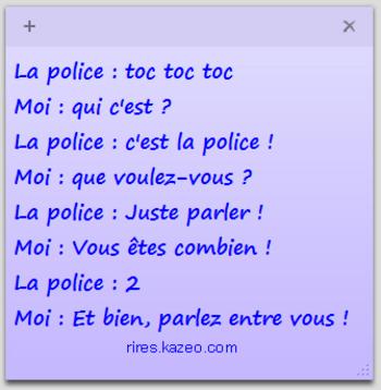 la police veut parler