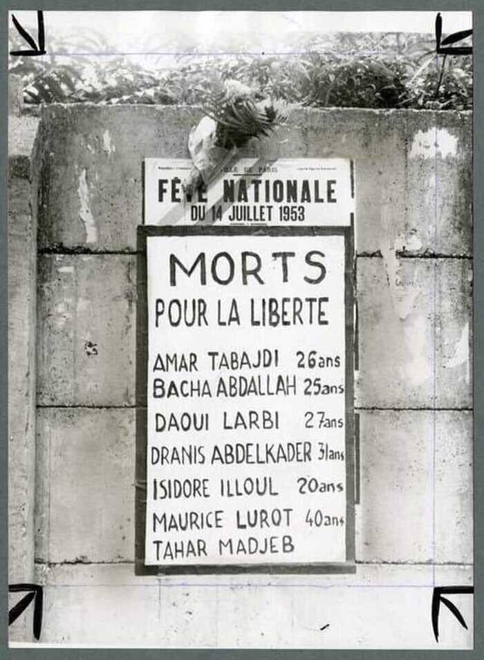 Rappelez-vous de notre article « Les balles du 14 juillet 1953 » : un film sur un carnage méconnu : une plaque sera apposée en hommage aux victimes