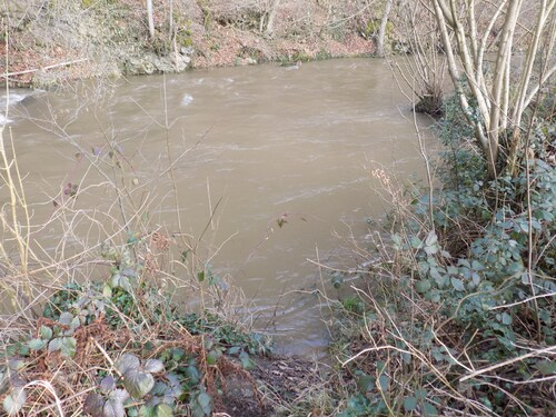 La rivière grossi!