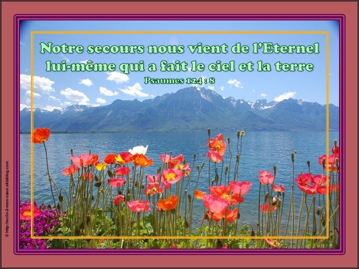 Notre secours nous vient de l'Eternel - Psaumes 124 : 8