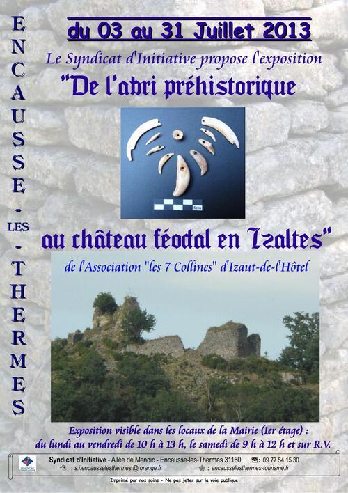 """Exposition : """"De l'abri préhistorique au château féodal en Isaltès"""""""