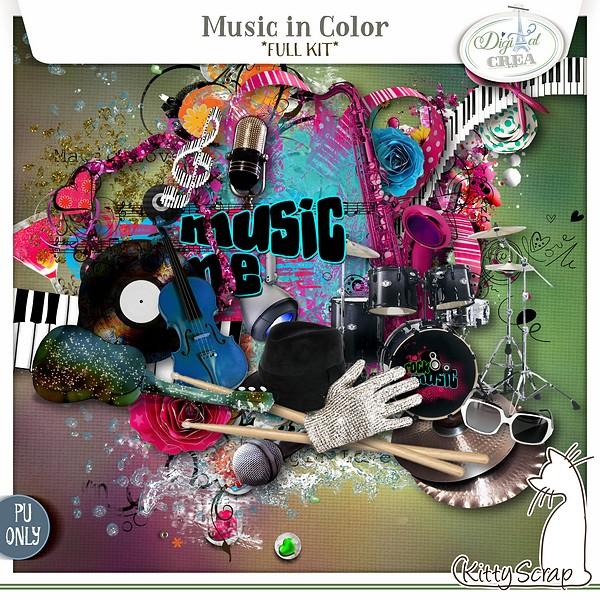 kit music in color de kittyscrap