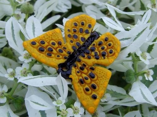 Papillon créé par Sylvie Le Brigant et exposé dimanche 11 Septembre 2011 dans le parc André de La Croix-en-Touraine !