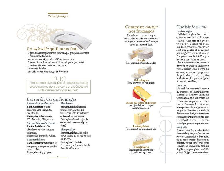 Alimentation 2: Petit guide du parfait «vins et fromages» (13 pages)