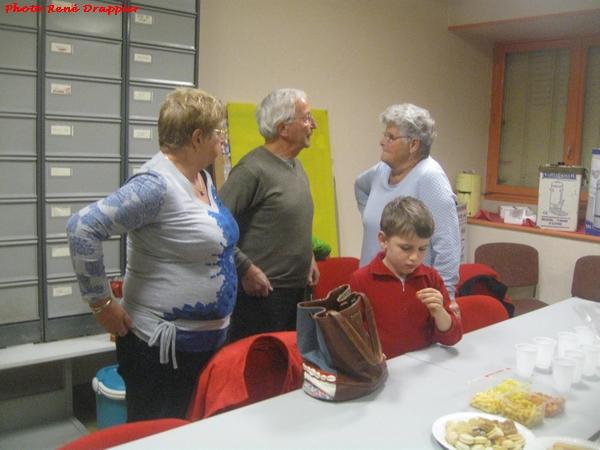 Une belle réunion chez les cyclotouristes en l'honneur de l'un d'entre-eux...