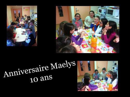 Anniversaire Maelys 10 ans