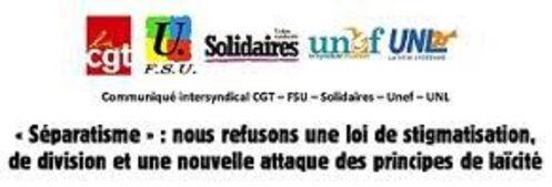 - France. Front syndical contre la loi sur « le séparatisme
