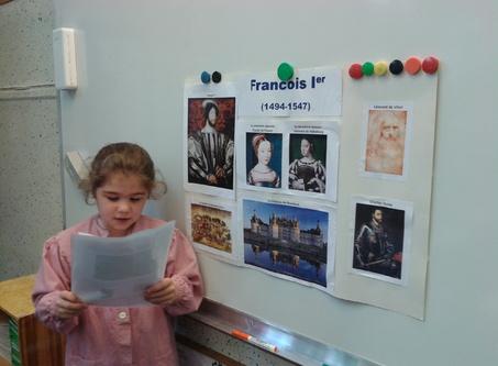 Constance présente son exposé sur François Ier !